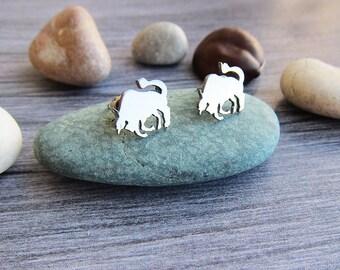 Taurus earrings Taurus gift for taurus Zodiac jewellery zodiac earrings Taurus zodiac studs Taurus jewellery Animal studs Zodiac ear studs