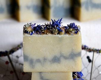Cornflower Soap, Organic Soap, Handmade Soap, Soap for Dry Skin, Gift Soap, Cold Process