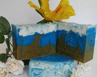 Eucalyptus Mint Coconut Milk Soap Aloe Juice Natural Vegan Artesian Handcrafted Soap