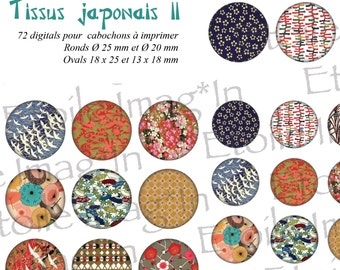 Board 72 digital * tissue Japanese II * to print for cabochons