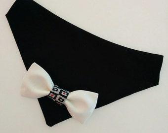 Dog of Honor Bandana, Wedding Dog Bandana, Tuxedo, Dog Necktie, Dog Bow Tie