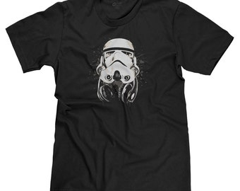 DJ Storm Trooper Darth Vader Star Wars Dark Side The Force Funny Parody T-shirt Tee