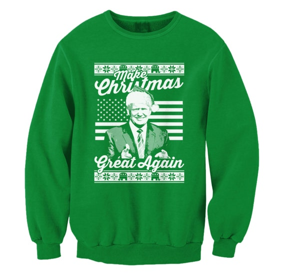 Make Christmas Great Again Donald Trump Ugly Sweater Merry