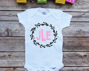 Personalized Easter Onesie®,Initial Shirt, Easter Toddler, Easter onesie, Bunny Shirt, Easter shirt, kids easter clothes,Personalized Easter