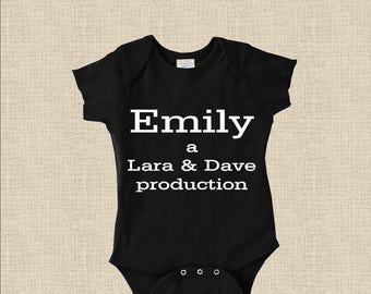 Personalized Baby Onesie / T-Shirt: Production Announcement