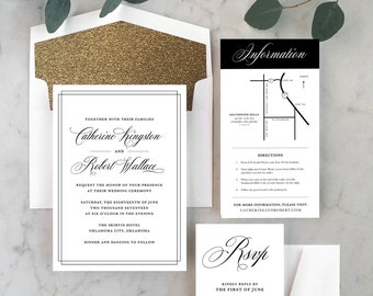 Classic + Elegant Wedding Invitations