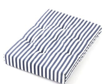 Modern Dollhouse Miniature Mattress- Blue striped 1:12 scale