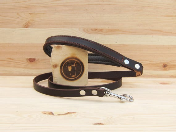 Dog Leash, Leather Dog Leash, Simple Dog Leash, 4 Foot Dog Leash, Strong Dog Leash, Walking Leash, Leather Dog Lead, Brown Leather Dog Leash