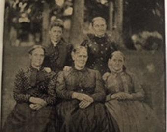 Vintage Tintype, Sisters (1) c. 1850s