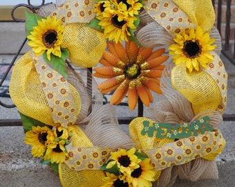 """18"""" Sunflower Wreath"""