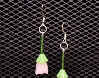 Upside down summer flower earrings