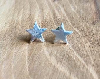 Small silver star studs, star studs, Silver star earrings, star earrings, Pure silver stud earrings, silver studs, silver stars,small studs