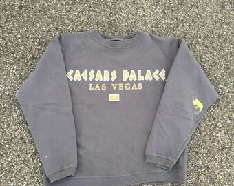 Vintage Caesar's Palace Crewneck Sweatshirt Sweater Jumper (Size XL) Las Vegas The Venetian MGM Grand South Point Aria 80s 90s