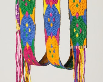 Colorful Guatemalan faja or belt / Boho complement / DYI project