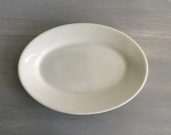 White Ironstone Platter, White Ironstone, Oval Platter, Homer Laughlin, Plate, Vintage, Farmhouse