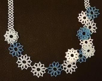 Spring Flower Necklace - Teal