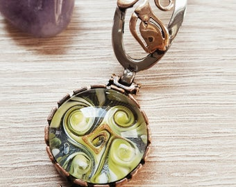 Lampwork bracelet,Bronze bracelet,Lampwork bead,Murano Glass Jewelry,Lampwork bangle,Women bracelet,Glassbead,Bronze bangle,Women jewelry