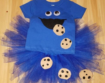 Cookie monster tutu / shirt