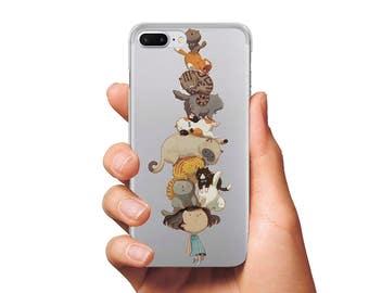 Cute case iPhone SE case iPhone 5s case Cat case iPhone 5c case iPhone 6 case iPhone 6s case cute cat case iPhone 7 case iPhone 7 Plus case