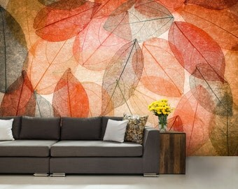ABSTRACT MURAL, leaf wall mural, leaf abstract wall mural, abstract mural, leaf wallpaper, wallpaper, leaf background, abstract background