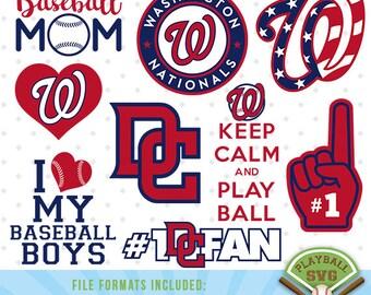 Washington Nationals SVG files, baseball designs contains dxf, eps, svg, jpg, png and pdf files. PB-027