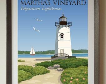 Edgartown Lighthouse Fine Art Print