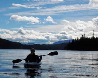 Kayaking on Johnson Lake, B.C.