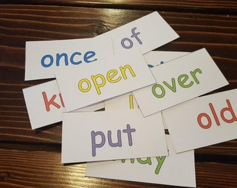 Printable 1st Grade Sight Words Magnets
