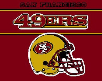 San Francisco 49ers crochet graph pattern