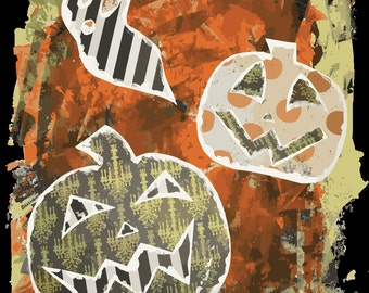 Halloween Ghost Jack'o'lantern Fever Dream Art Print