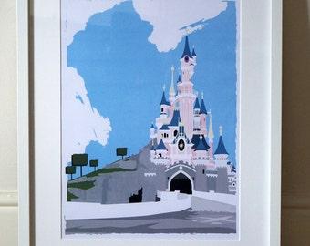 Disneyland Paris - Sleeping Beauty's Castle - A3 Poster