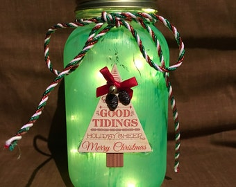 Christmas Mason Jar Luminary