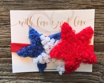 USA - Patriotic - America - 4th of July - Fourth of July STARS Headband