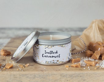 Salted Caramel Scented Tin Candle