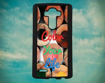 Inspirational Color Your Life Color Pencil Quote For LG G3 G4 G5 G6 Phone  Case Cover