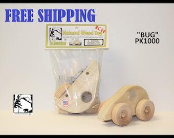 Natural Wood Toy Bug Kit 1000