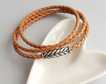 Brown Leather Braided Bracelet,Eternity Leather Braided Bracelet,Leather Braided Wrap Bracelet,Boho Leather Wrap Bracelet,Braided Bracelet