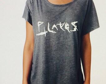 pilates, yoga, OM, swagger flowy tees