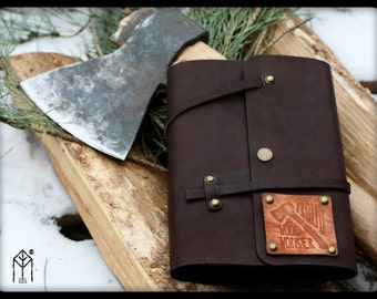 """Leather Notepad """"Woodworker"""""""