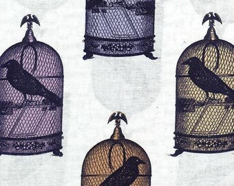 Birdcage Print 100% cotton woven fabric