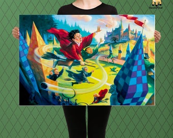 Harry Potter, Quidditch at Hogwarts Custom Raised Canvas