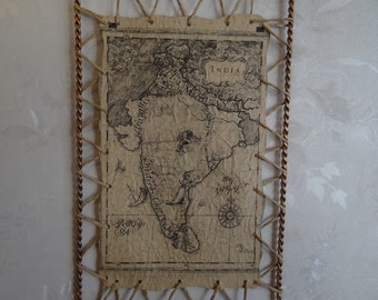 Decor . Modern Home Decor.old picture.filigree. forging. old map