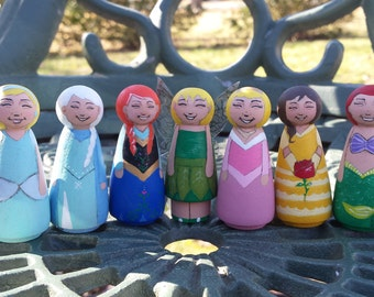 Hand painted Tiny maidens