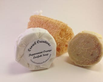 Peppermint Orange Loofah Soap