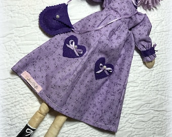 Beth the Lavender Girl, Handmade Doll