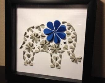 Handmade 3D elephant