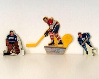 Metal Table Hockey Players and Post Shooter