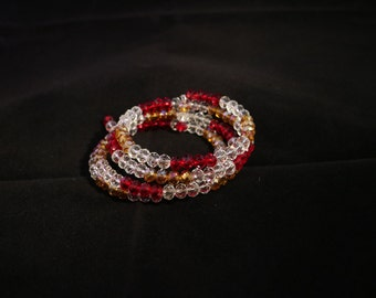 Ruby Red and Gold Wrap Bracelet