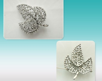 Brooch in rock crystal 50s excellent state, very beautifully worked
