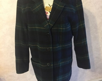 VTG Plaid Wool Jacket